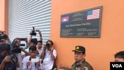 柬埔寨政府向媒体开放云朗海军基地的部分设施。 (2019年7月26日)