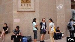 香港旅發局統計顯示,訪港中國旅客連續6個月下跌。(美國之音湯惠芸攝)