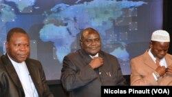 Dieudonné Nzapalainga, Nicolas Guérékoyame Gbangou et Omar Kobine Layama