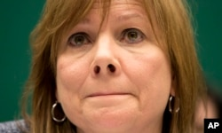 通用汽车公司CEO的玛丽.博拉(Marry Barra)4月1日在国会的听证会上