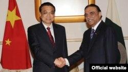 چین کے وزیراعظم لی چیانگ اور پاکستانی صدر زرداری