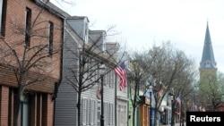 Sudut Kota Annapolis di AS, setelah Gubernur Maryland Larry Hogan memerintahkah warga untuk tinggal di rumah di tengah pandemi virus corona, 31 Maret 2020.