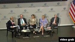 Predstavljanje izveštaja o sprečavanju ekstremizma u slabim demokratijama, u američkom Institutu za mir