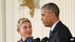 Ellen DeGeneres recibe la Medalla Presidencial de la Libertad 2016