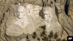 러시모어 산의 대통령 조각상