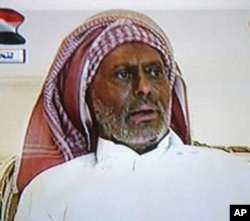 A still image from a video broadcast on Yemen TV shows Yemen's President Ali Abdullah Saleh speaking from an undisclosed location in Saudi Arabia, July 7, 2011