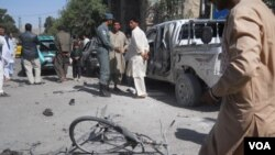 TKP pasca ledakan, Herat, Afghanistan, Sabtu (18/8).