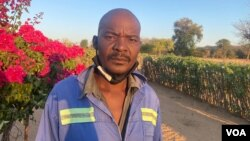 Morris Sibanda one of Dinde community in Zimbabwe's Hwange district says he is opposed to the coal mining project by Beifa Investments. (Columbus Mavhunga/VOA)
