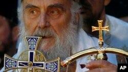Patrijarh Irinej na božićnoj liturgiji u Hramu Svetog Save u Beogradu