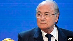 FIFA President Joseph Blatter announces Russia to host the 2018 World Cup, 02 Dec 2010