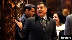 FILE - President Donald Trump's pick for secretary of the Army, businessman Vincent Viola, enters Trump Tower in New York City, Dec. 16, 2016.