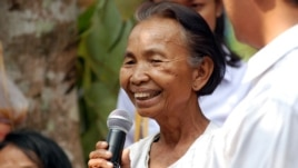 The case accuses regional Khmer Rouge leaders Ta An, Ta Tith and Im Chaem (pictured here) of various atrocity crimes, but its prosecution is opposed by high-ranking members of the Cambodian government.
