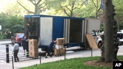 Moving Trucks have become a more common site in New York City as residents and businesses flee during the Coronavirus Pandemic.