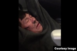 Dr. David Dao was dragged off a United Airlines plane in Chicago on Sunday for refusing to give up his seat after the airline asked him to leave the flight, seen from a Twitter post from @JayseDavid