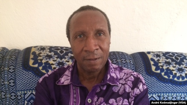 Samory Ngaradoumbé, secrétaire général de l'Association des Éditeurs de la Presse Privée du Tchad (AEPT). (VOA/ André Kodmadjingar)