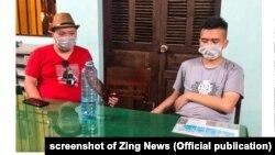 Hai trong số 21 người Trung Quốc bị cho là nhập cảnh trái phép và lưu trú ở Quảng Nam (VN), 18/7/2020.