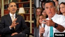 奥巴马(左) 罗姆尼(右)