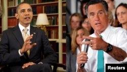 Predsednik Barak Obama i republikanski predsednički kandidat Mit Romni