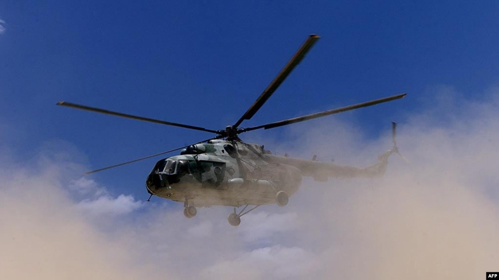 Un hélicoptère militaire éthiopien, à Zala Anbesa, le 26 mai 2000.