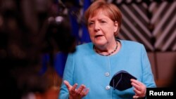Анґела Меркель сказала, що вона бажала б від ЄС стосовно Росії «сміливішого кроку». Брюссель 25 червня 2021 р.