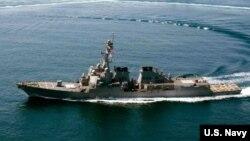 Chiến hạm trang bị tên lửa dẫn đường USS Lassen của Mỹ.