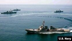 Tháng 10 năm ngoái, khu trục hạm USS Lassen của Mỹ đã tiến vào bên trong phạm vi 12 hải lý của Đá Subi, một trong những hòn đảo nhân tạo Trung Quốc mới xây ở Biển Đông. (Ảnh tư liệu)