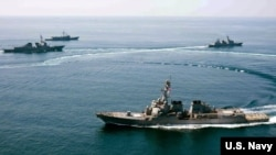 Chiến hạm trang bị tên lửa dẫn đường USS Lassen của Hoa Kỳ.