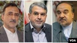 سه وزیر پیشنهادی روحانی، رئیس جمهوری ایران به مجلس، سلطانی فر، صالحی امیری و فخر آشتیانی