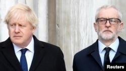 Le Premier ministre britannique Boris Johnson et le chef du parti travailliste britannique Jeremy Corbyn à Londres, Grande-Bretagne le 2 décembre 2019.