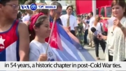 VOA60 World- Cuban flag flies over embassy in America for the first time in 54 years- July 21, 2015