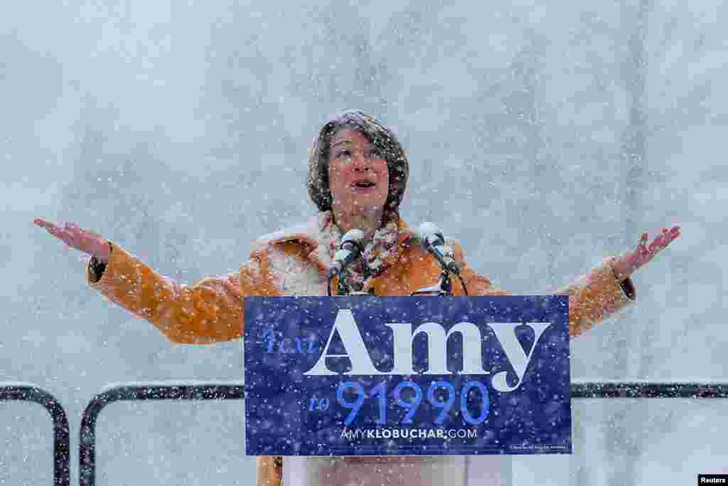 U.S. Senator Amy Klobuchar announces her candidacy for the 2020 Democratic presidential nomination in Minneapolis, Minnesota, Feb. 10, 2019.