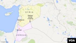Rakban border crossing between Syria and Jordan