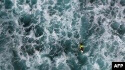 Vista aérea da Praia da Cruz, na Boa Vista