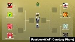 Tableau ya 1/4 ya Ligue africaine des champions ya CAF na Caire, Egypte, 5 février 2020. (Facebook/CAF)