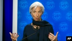 La directrice du FMI Christine Lagarde à Washington, le 19 décembre 2016.