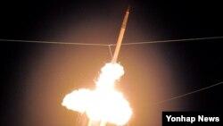 지난 2011년 하와이에서 실시된 사드 시험 발사 장면. (자료사진)