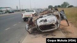 Carros queimados em Luanda