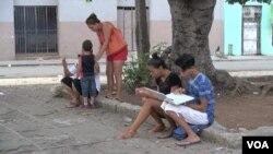 古巴哈瓦那加萊諾公園是古巴人上網熱點之一。(視頻截圖)