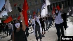 Prvomajski protest u Atini