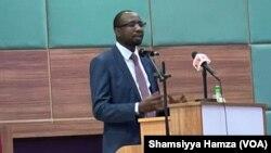 Shugaban hukumar NITDA, Kashifu Inuwa Abdullah, a yayin taron NASCOS.