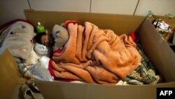 Так спят эвакуированные