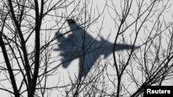 """Máy bay chiến đấu Su-30 SM """"Sokoly Rossii"""" [Falcons of Russia] trong một màn trình diễn ở Krasnoyarsk, Siberia, 25/10/2014."""