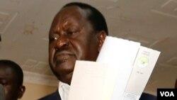 Le candidat et leader l'opposition kényane Raila Odinga a Nairobi, Kenya, 8 août 2017.