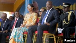 FILE - Democratic Republic of the Congo's President Joseph Kabila and First Lady Marie Olive Lembe attend the anniversary celebrations of Congo's independence from Belgium in Kindu, the capital of Maniema province in the Democratic Republic of Congo, June 30, 2016.