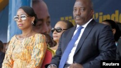 Shugaban Jamhuriyar Dimokradiyar Kwango Joseph Kabila da matarsa