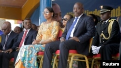 Democratic Republic of the Congo's President Joseph Kabila and First Lady Marie Olive Lembe attend the anniversary celebrations of Congo's independence from Belgium in Kindu, the capital of Maniema province in the Democratic Republic of Congo, June 30, 2016.