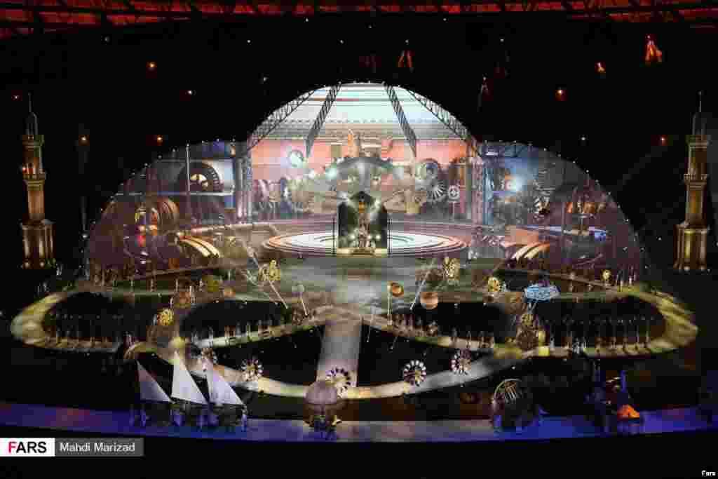مراسم افتتاحیه بازیهای کشورهای اسلامی ۲۰۱۷ در باکو عکس: مهدی مریزاد