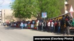 Hiriira Baqattoonni waajjira UNHCR fuula duratti geggeessan, Kaayiroo, Masrii