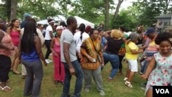 FILE - Liberians in Washington celebrate Liberia's 168th Independence Day.