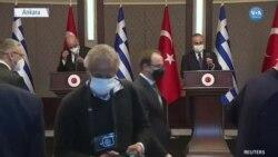 Çavuşoğlu ile Dendias'ın Basın Toplantısında Gerilim